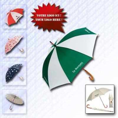 Parapluie manche en bois